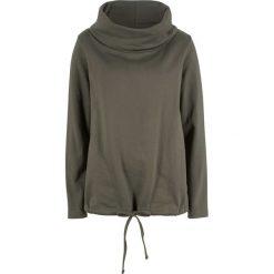 Bluza dresowa bonprix ciemnooliwkowy. Zielone bluzy damskie bonprix, z dresówki. Za 84,99 zł.