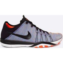 Nike - Buty WMNS Nike Free TR 6 PRT. Szare buty sportowe damskie marki Nike, z materiału. W wyprzedaży za 219,90 zł.