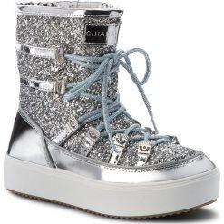 Śniegowce CHIARA FERRAGNI - 18AI-CF1762 Silver. Szare buty zimowe damskie Chiara Ferragni, z materiału. Za 1099,00 zł.