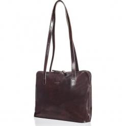 Skórzana torebka w kolorze ciemnobrązowym - 33,5 x 26 x 9 cm. Brązowe torebki klasyczne damskie I MEDICI FIRENZE, z materiału. W wyprzedaży za 391,95 zł.