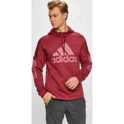 Adidas Performance - Bluza. Brązowe bejsbolówki męskie adidas Performance, l, z nadrukiem, z bawełny, z kapturem. W wyprzedaży za 219,90 zł.