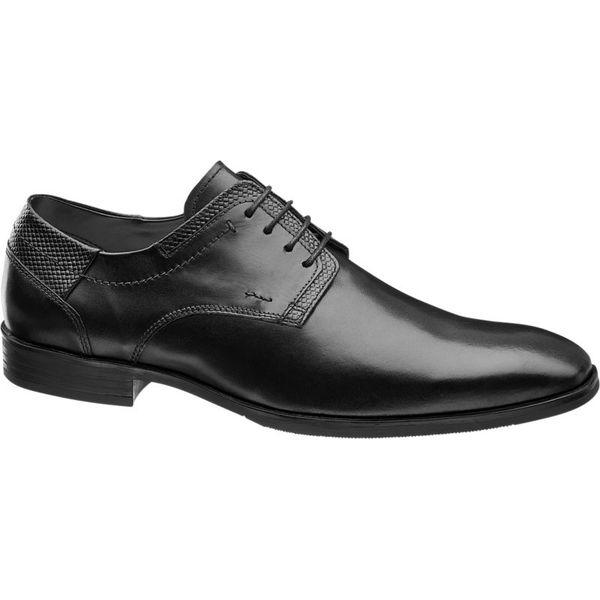 dc7c9b9acb7f6 eleganckie buty męskie Claudio Conti czarne - Czarne buty wizytowe ...