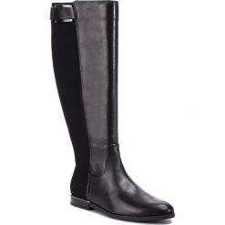Buty zimowe damskie: Oficerki CALVIN KLEIN - Perlina E7482  Black