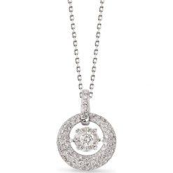 RABAT Wisiorek Białe Złoto - złoto białe 585, Brylant 0,10ct. Szare łańcuszki męskie marki W.KRUK, srebrne. W wyprzedaży za 3990,00 zł.