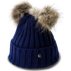 Czapka LIU JO - Cappello Due Ponpon N67285 M0300 Royal 93939. Niebieskie czapki zimowe damskie Liu Jo, z materiału. W wyprzedaży za 189,00 zł.