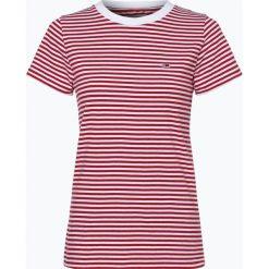 Tommy Jeans - T-shirt damski, czerwony. Szare t-shirty damskie marki Tommy Jeans, l, z dzianiny, z podwyższonym stanem, dopasowane. Za 119,95 zł.