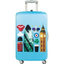 Pokrowiec na walizkę LOQI Hey London. Niebieskie walizki LOQI, z elastanu. Za 114,00 zł.