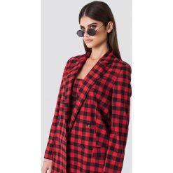 Okulary przeciwsłoneczne damskie aviatory: Sahara Ray x NA-KD Owalne okulary przeciwsłoneczne - Black