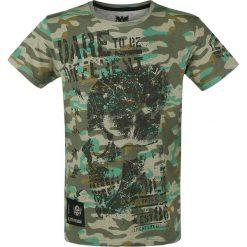 T-shirty męskie z nadrukiem: Black Premium by EMP Rebel Soul T-Shirt kamuflaż