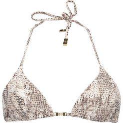 """Biustonosz bikini """"Sun Dappled Decadence"""" w kolorze brązowo-białym. Białe biustonosze Heidi Klum Intimates. W wyprzedaży za 194,95 zł."""