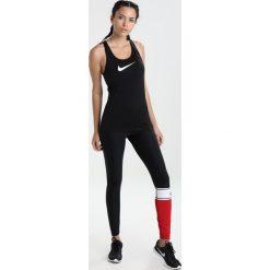 Nike Performance Legginsy black/white/black/gym red. Brązowe legginsy sportowe damskie marki N/A, w kolorowe wzory. Za 199,00 zł.