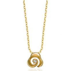 Łańcuszki męskie: Złoty Wisiorek – złoto żółte 585, Diament 0,035ct
