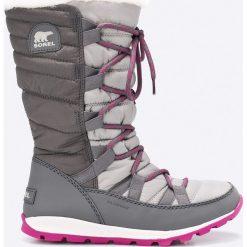 Sorel - Śniegowce Whitney Lace. Szare buty zimowe damskie Sorel, z materiału. W wyprzedaży za 319,90 zł.