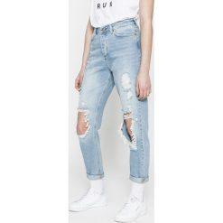 Vero Moda - Jeansy. Niebieskie proste jeansy damskie marki Vero Moda, z bawełny. W wyprzedaży za 119,90 zł.