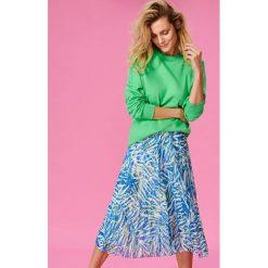 Bluzy damskie: Długa bluza oversize - Zielony