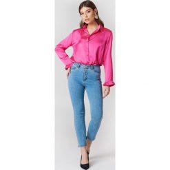 NA-KD Jeansy z wysokim stanem - Blue. Niebieskie jeansy damskie NA-KD, z elastanu. Za 121,95 zł.