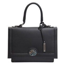 Torebki klasyczne damskie: Skórzana torebka w kolorze czarnym – (S)30 x (W)20 x (G)15 cm