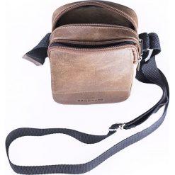Torba na ramię listonoszka BRODRENE Czarna. Czarne torby na ramię męskie Brødrene, w paski, ze skóry. Za 119,90 zł.
