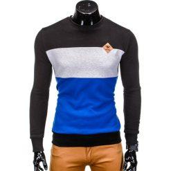 BLUZA MĘSKA BEZ KAPTURA B701 - CZARNA. Czarne bluzy męskie rozpinane marki Ombre Clothing, m, z bawełny, bez kaptura. Za 59,00 zł.