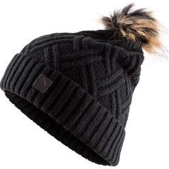 Czapka damska CAD603 - głęboka czerń - Outhorn. Czarne czapki damskie Outhorn, na zimę, z materiału. Za 29,99 zł.