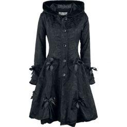 Poizen Industries Alice Rose Coat Płaszcz damski czarny. Czarne płaszcze damskie pastelowe Poizen Industries, m, z aplikacjami, z polaru. Za 569,90 zł.