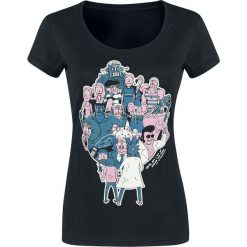 Rick And Morty Parasiten Koszulka damska czarny. Czarne bluzki asymetryczne Rick And Morty, l, z nadrukiem, z okrągłym kołnierzem. Za 79,90 zł.