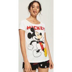 Dwuczęściowa piżama z nadrukiem Mickey Mouse - Biały. Białe piżamy damskie Sinsay, l, z motywem z bajki. Za 49,99 zł.
