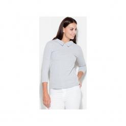 Bluzka K253 Szary. Szare bluzki z odkrytymi ramionami marki KATRUS, s, z dzianiny, z dekoltem na plecach. Za 79,00 zł.