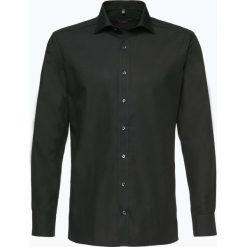 Eterna Modern Fit - Koszula męska niewymagająca prasowania, czarny. Czarne koszule męskie non-iron marki Eterna Modern Fit, m, z bawełny, z klasycznym kołnierzykiem. Za 229,95 zł.