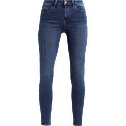 New Look DISCO RINSE Jeans Skinny Fit blue. Czarne jeansy damskie marki New Look, z materiału, na obcasie. Za 139,00 zł.