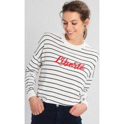 Swetry klasyczne damskie: Whistles LIBERTE EMBROIDERED STRIPE Sweter white