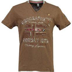 """T-shirty męskie z nadrukiem: Koszulka """"Jouri"""" w kolorze szarobrązowym"""