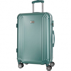 Walizka w kolorze zielonym - 86 l. Zielone walizki marki Platinium, z materiału. W wyprzedaży za 299,95 zł.