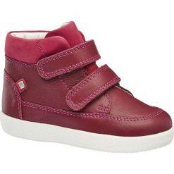 Buty dziecięce Elefanten bordowe. Czerwone buciki niemowlęce chłopięce Elefanten, z materiału, na rzepy. Za 159,90 zł.