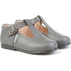 Skórzane półsandały w kolorze szarym. Niebieskie sandały chłopięce marki geox kids, z gumy. W wyprzedaży za 175,95 zł.