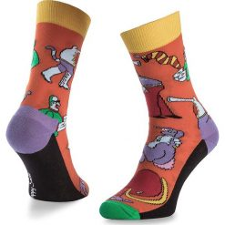 Skarpety Wysokie Unisex HAPPY SOCKS - BEA01-2000 Kolorowy Pomarańczowy. Brązowe skarpetki męskie Happy Socks, w kolorowe wzory, z bawełny. Za 39,90 zł.