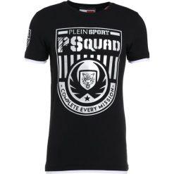 Plein Sport ROUND NECK Tshirt z nadrukiem black/silver. Czarne koszulki polo marki Plein Sport, m, z nadrukiem, z bawełny. W wyprzedaży za 503,40 zł.