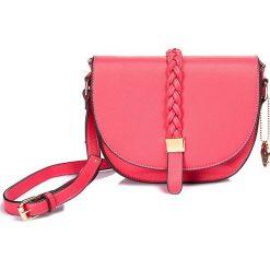 """Torebki klasyczne damskie: Torebka """"Amyle"""" w kolorze różowym - 24 x 19 x 7,5 cm"""