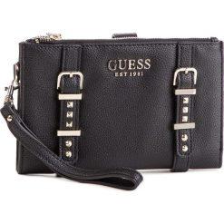 Duży Portfel Damski GUESS - SWVG71 69570 BLA. Czarne portfele damskie Guess, z aplikacjami, ze skóry ekologicznej. Za 279,00 zł.