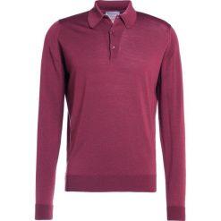 John Smedley DORSET Koszulka polo maroon. Czerwone koszulki polo John Smedley, m, z materiału. W wyprzedaży za 615,30 zł.