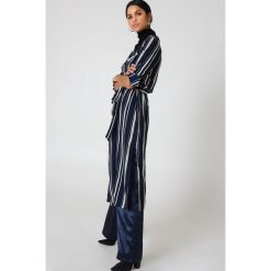 Płaszcze damskie: Hot & Delicious Płaszcz w paski Duster - Multicolor,Navy