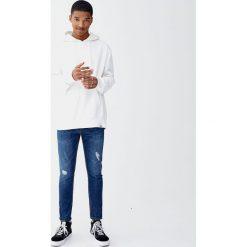 Jeansy super skinny fit z suwakami. Szare jeansy męskie relaxed fit Pull&Bear. Za 139,00 zł.