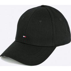 Tommy Hilfiger - Czapka. Czarne czapki z daszkiem damskie marki TOMMY HILFIGER, z bawełny. W wyprzedaży za 99,90 zł.