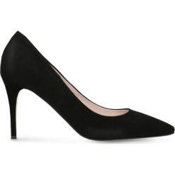 Czółenka FIORITA. Czarne buty ślubne damskie Gino Rossi, ze skóry, na obcasie. Za 224,95 zł.