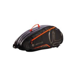 Torba do sportów rakietowych LB930. Czarne torby podróżne marki DOMYOS, z materiału, duże. Za 129,99 zł.