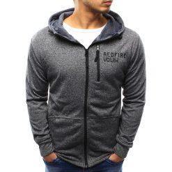 Bluzy męskie: Bluza męska rozpinana szara (bx2327)