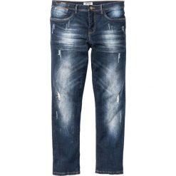"""Dżinsy ze stretchem Slim Fit Straight bonprix ciemnoniebieski """"used"""". Niebieskie jeansy męskie relaxed fit marki House, z jeansu. Za 109,99 zł."""