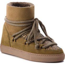 Buty INUIKII - Sneaker 70202-7 Sequin Olive. Zielone buty zimowe damskie Inuikii, z nubiku. Za 1129,00 zł.