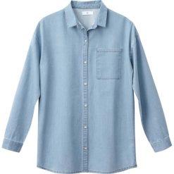 Dżinsowa koszula oversize 10-16 lat. Niebieskie bluzki dziewczęce z długim rękawem La Redoute Collections, z wiskozy, z klasycznym kołnierzykiem. Za 88,16 zł.