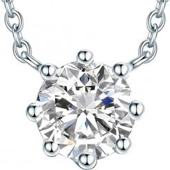 Srebrny naszyjnik z elementem ozdobnym - dł. 45 cm. Szare naszyjniki damskie Stylowa biżuteria, srebrne. W wyprzedaży za 108,95 zł.